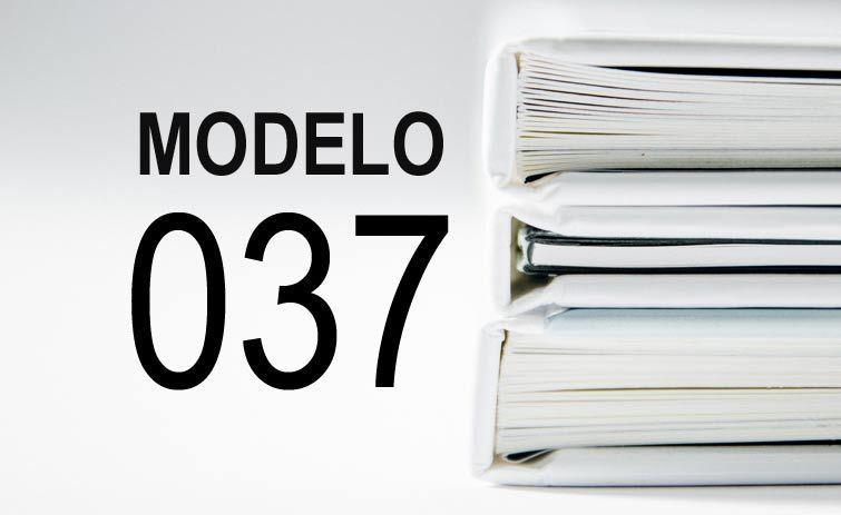 modelo 037 papeleo
