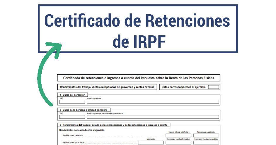 modelo 115 certificado irpf retenciones