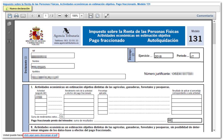 modelo 131 pdf