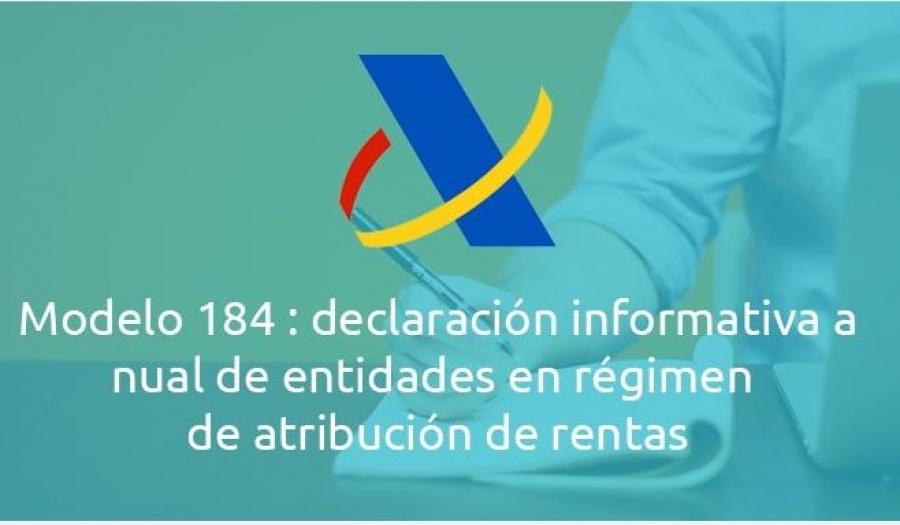 modelo 184 agencia tributaria