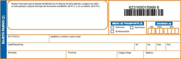 modelo 620 impuesto transmisión vehículo hacienda