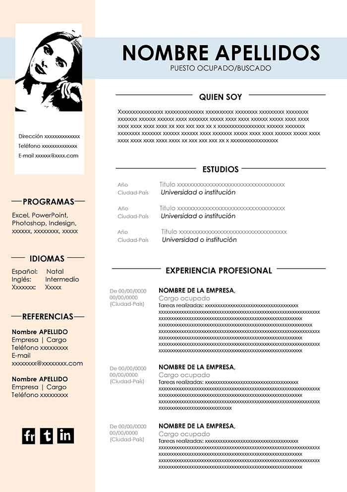 modelo currículum vitae gratis