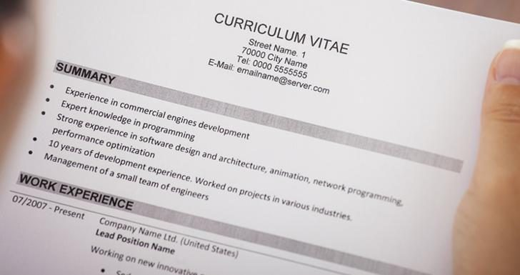 modelo currículum vitae papel