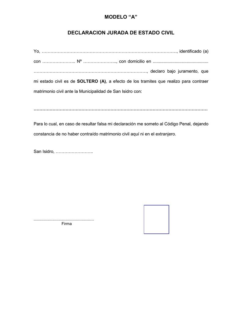 modelo declaración jurada imprimir