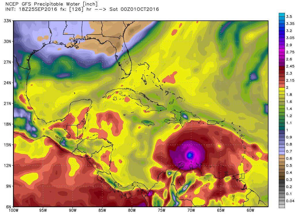 modelo gfs pronóstico huracán