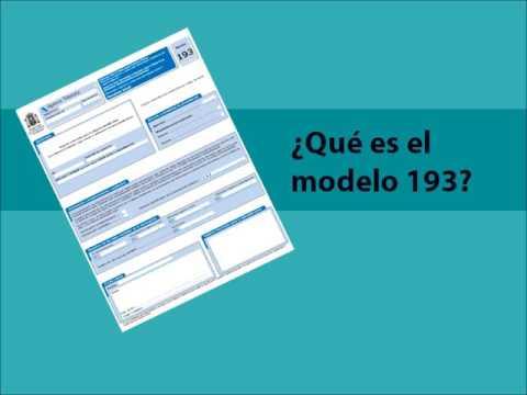 modelo 193 qué es