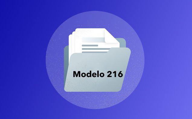modelo 216 vector