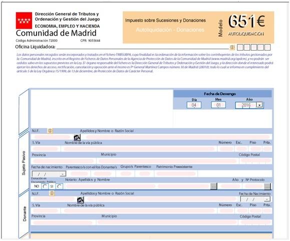 modelo 651 comunidad de madrid