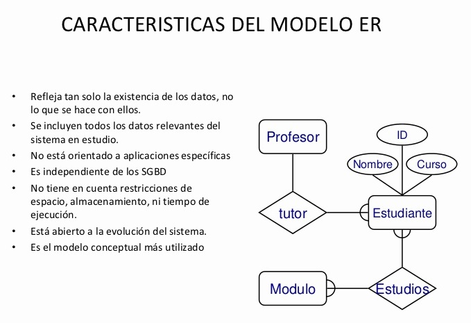 modelo entidad relación características