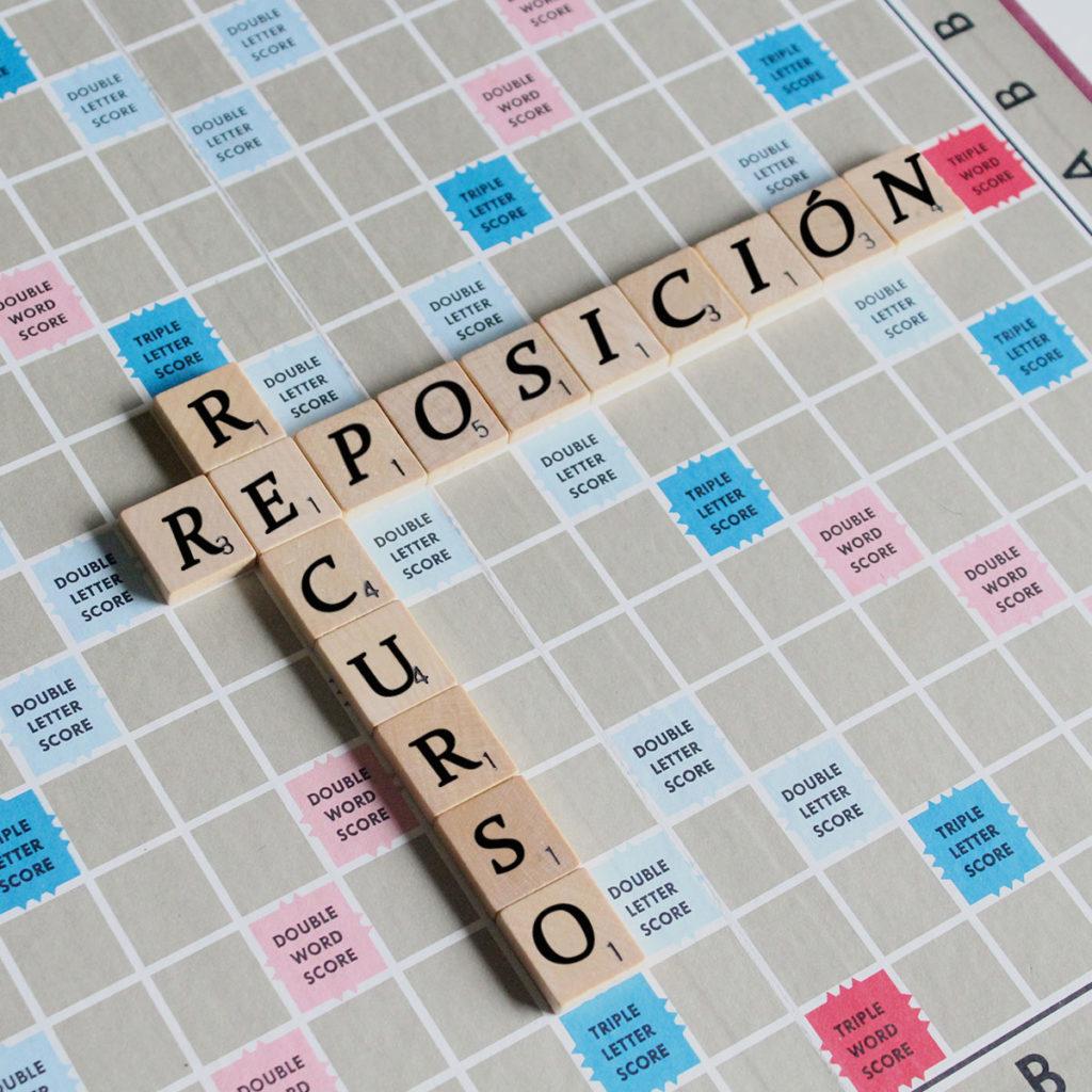 modelo recurso de reposición scrabble