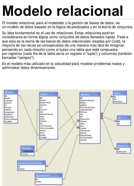 modelo relacional concepto