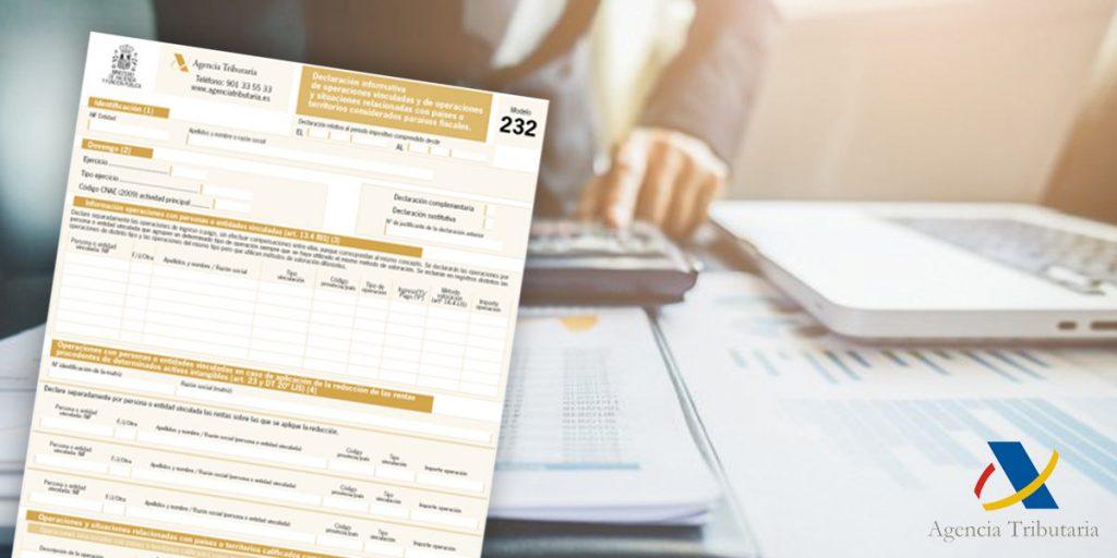 modelo 232 presentación agencia tributaria