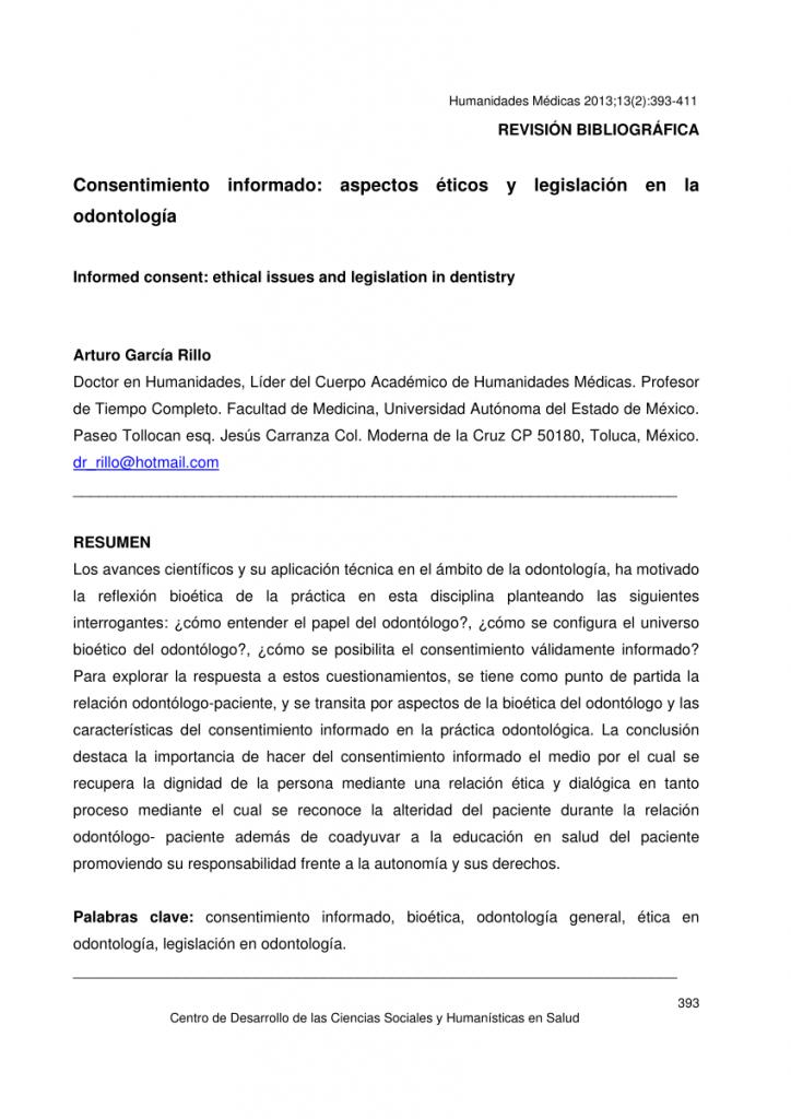 modelo consentimiento informado odontologíaa