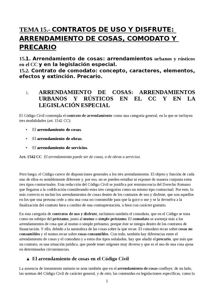 modelo contrato de arrendamiento en precario
