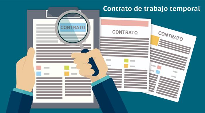 modelo de contrato de trabajo contrato temporal vector