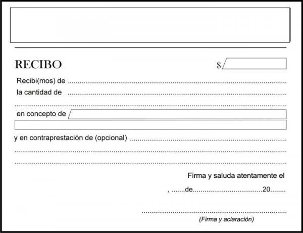 modelo de recibo básico