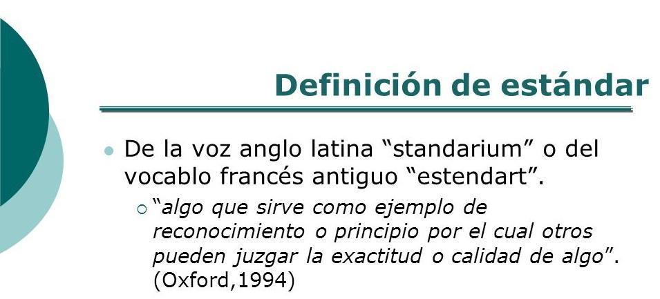modelo estándar definición