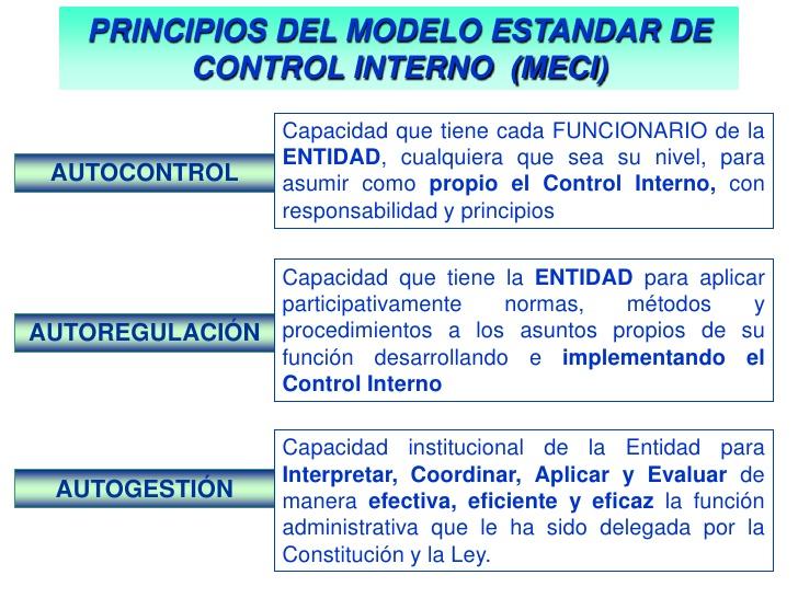 modelo estándar control interno principios