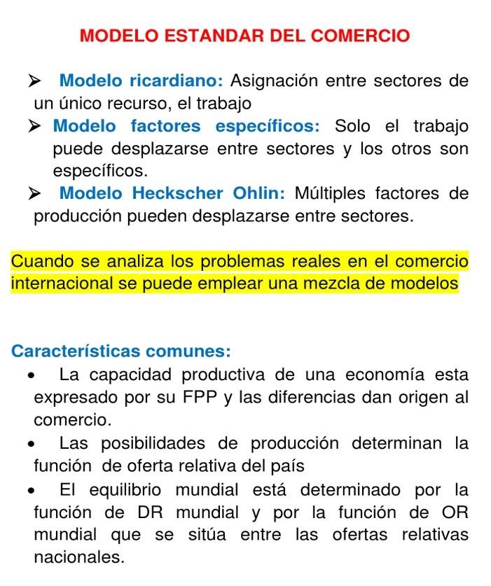 modelo estándar comercio