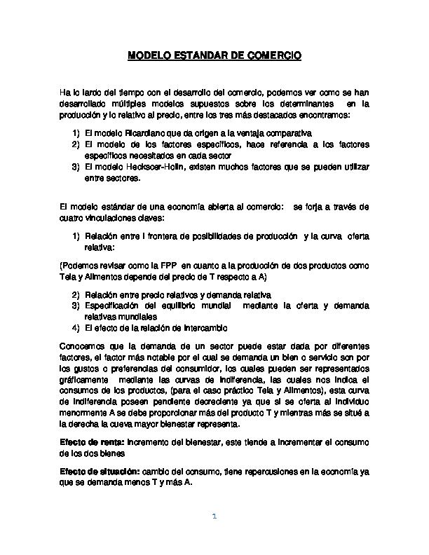 modelo estándar de comercio documento