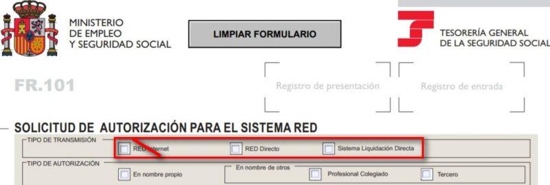 modelo fr 103 sistema red