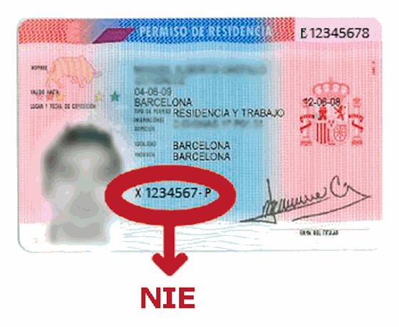 modelo 011 número de identificación de extranjero