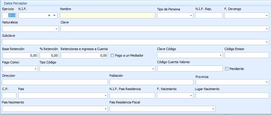 modelo 296 datos perceptor