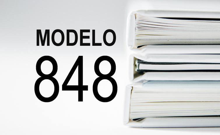 modelo 848 presentación