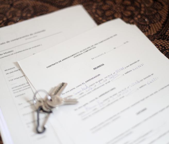 modelo contrato alquiler vivienda compartida entrega llaves