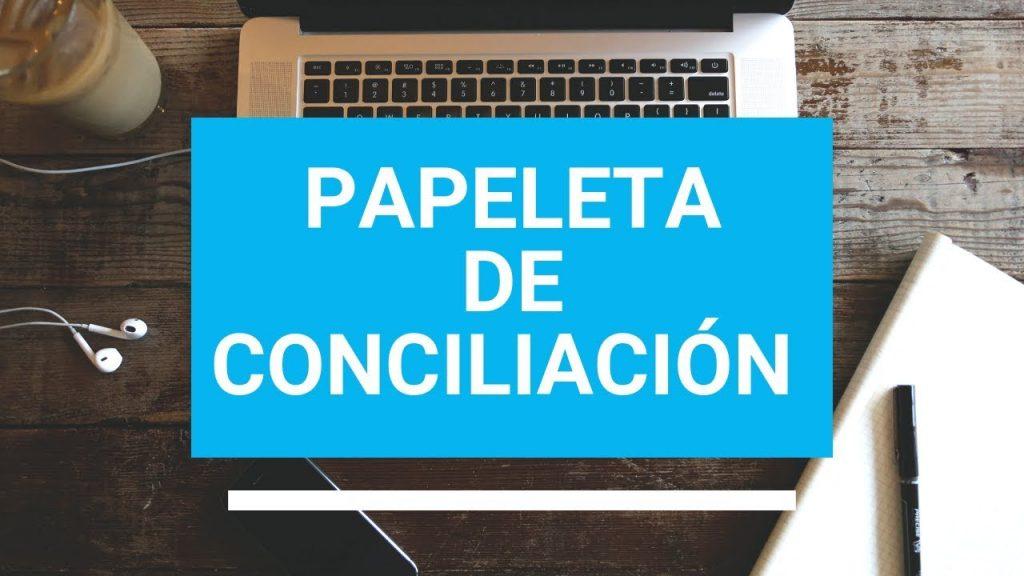 modelo papeleta de conciliación qué es