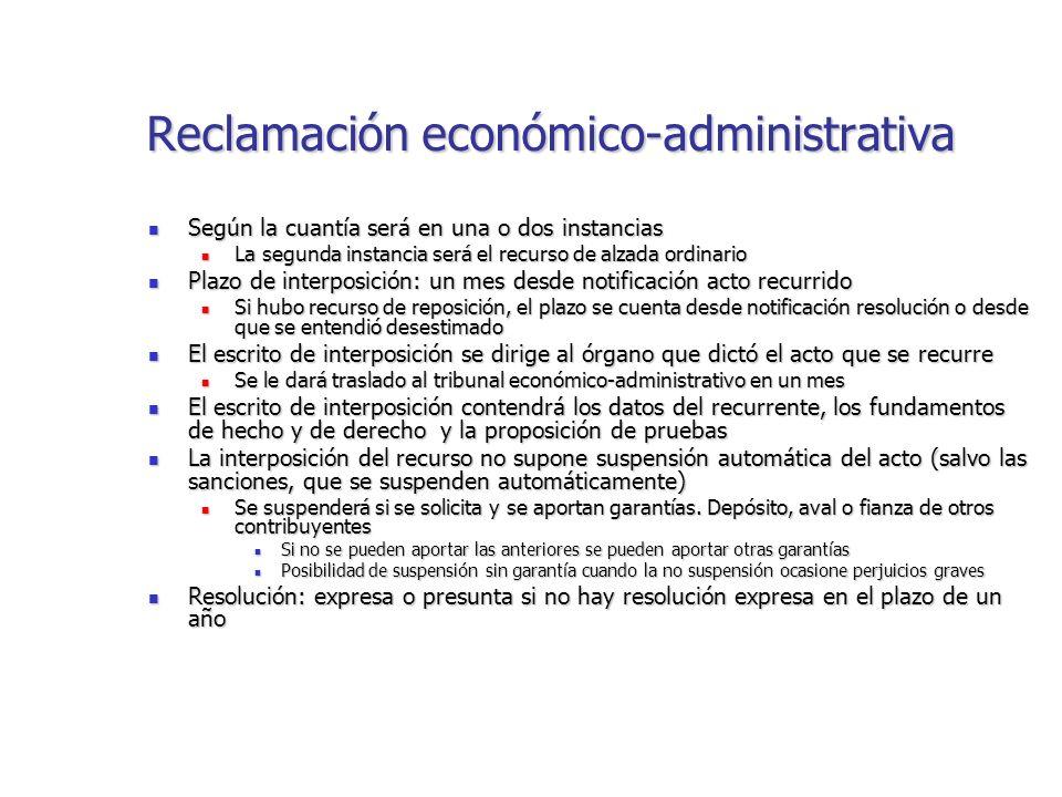 modelo reclamación económico administrativa qué es